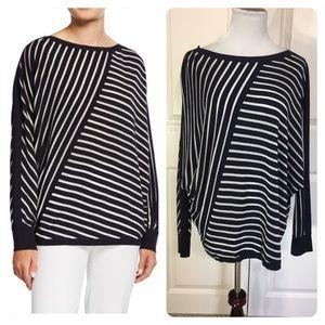Lafayette 148 New York Directional Striped Sweater